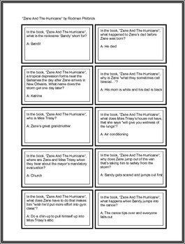 """Battle of the Books Questions: """"Zane And The Hurricane"""" by Rodman Philbrick"""