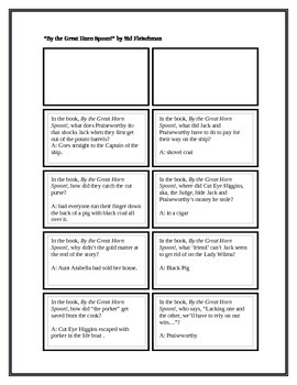 """Battle of the Books Questions for """"By the Great Horn Spoon!"""""""