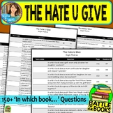 Battle of the Books Questions for The Hate U Give