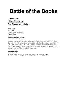 Battle of the Books - Real Friends