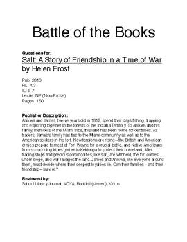 Battle of the Books - Salt