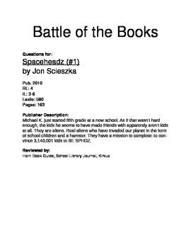 Battle of the Books - Spaceheadz
