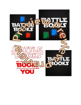 Battle of the Books - Star Wars Parody Logo - May the Books be With You