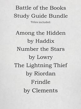 Battle of the Books Study Guide Bundle- 1st Battle 2017