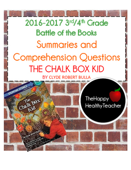 Battle of the Books The Chalk Box Kid by Clyde Bulla Summaries and Questions