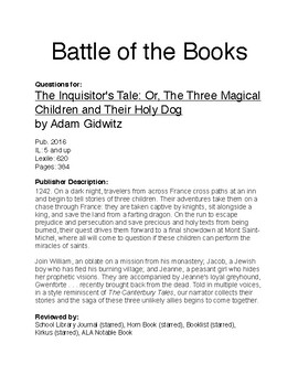 Battle of the Books - The Inquisitor's Tale