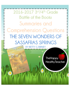 Battle of the Books The Seven Wonders of Sassafras Springs Summary and Questions