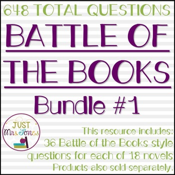 Battle of the Books Trivia Questions Bundle #1