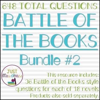 Battle of the Books Trivia Questions Bundle #2