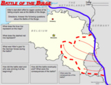 Battle of the Bulge (Interactive WWII Map/Google Drive/Distance Learning)