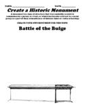 Battle of the Bulge Monument/Statue Worksheet (UDL)