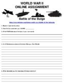 Battle of the Bulge ONLINE ASSIGNMENT (PDF/GOOGLE CLASSROOM)