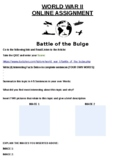Battle of the Bulge Online Assignment W/Article (Microsoft Word)