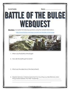 Battle of the Bulge - Webquest with Key (World War II)