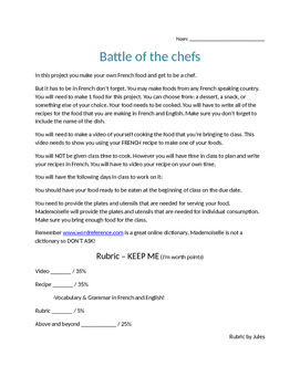 Battle of the Chefs project