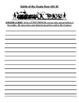 Battle of the Diyala River Creative Writing Assignment