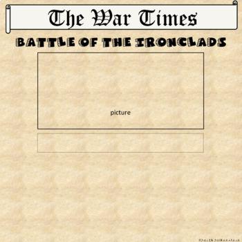 Battle of the Ironclads Monitor & Merrimack in Google Slides™