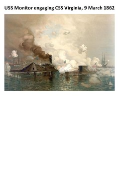 Battle of the Ironclads Monitor and Merrimack Word Search
