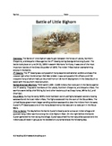 Battle of the Little Bighorn  Custer - Sioux Review Article Questions Activities