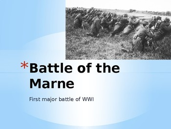 Battle of the Marne PowerPoint
