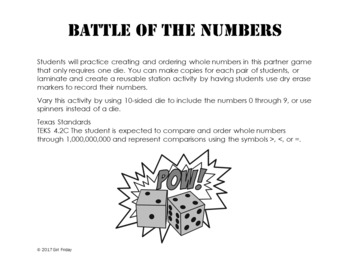Battle of the Numbers