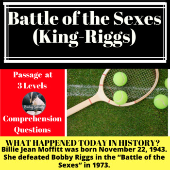 Battle of the Sexes Differentiated Reading Passage, November 22