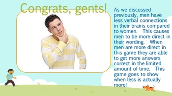 Battle of the Sexes (Version 1)(Powerpoint & 4 Games) - Brain Games