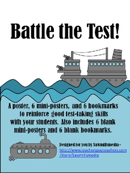 Battle the Tests!  Bookmarks and Posters to Prepare for Standardized Tests