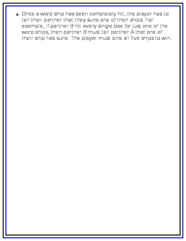 BattleShip Template: practice spelling and vocabulary words