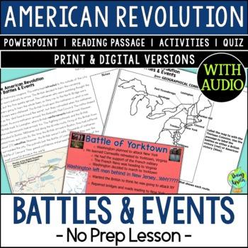 Battles & Events of the American Revolution, US Revolutionary War Battles