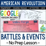 Battles & Events of the American Revolution; Distance Lear