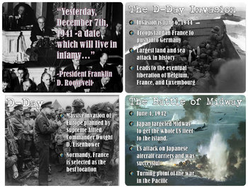 World War 2 Battles and Events PowerPoint Lesson