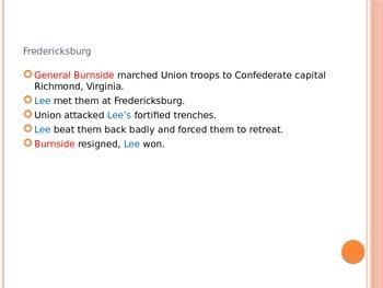 Battles of Antietam, Fredericksburg, and Vicksburg