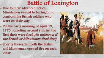 Battles of Lexington and Concord Lesson Plan