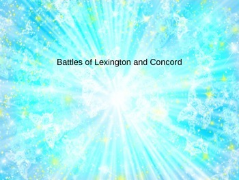 Battles of Lexington and Concord PowerPoint