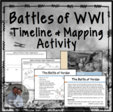 Battles of WWI Inquiry & Investigation Timeline & Mapping Activity World War One