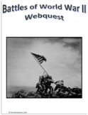 Battles of WWII (WW2) Social Studies Webquest Internet Activity