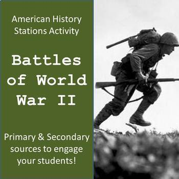 Battles of WWII Stations Activity