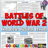 Battles of World War 2 Stations Lesson