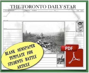 CHC2P CHC2D Battles of World War One: Readings & Activities