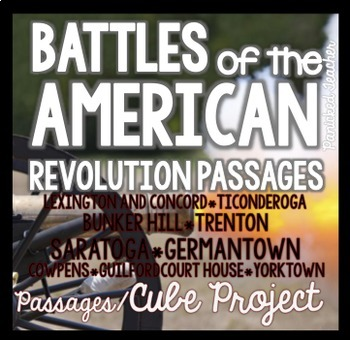 American Revolution: Battles of the American Revolution 3D CUBE Project