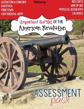 Battles of the American Revolution Assessment