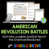 Battles of the American Revolution Google Drive DISTANCE LEARNING
