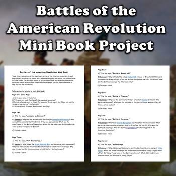 Battles of the American Revolution Mini Book (Revolutionary War)