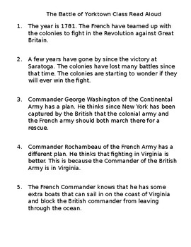 Battles of the American Revolution Readings/Worksheets