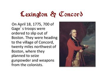 Battles of the American Revolution PowerPoint with Graphic Organizer