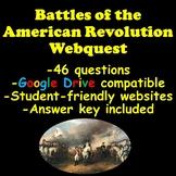 American Revolution Battles of the American Revolution Webquest