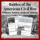 Battles of the Civil War Analysis Activity Handout Assignment - CCSS