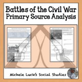 Battles of the Civil War Analysis Activity Handout Assignment - CCSS