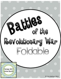Battles of the Revolutionary War Foldable - Lexington, Bunker Hill, Yorktown
